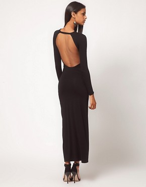 Image 1 ofASOS Maxi Dress with Thigh Split &amp; Scoop Back