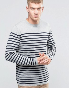 Jack & Jones Bretton Stripe Knitted Crew