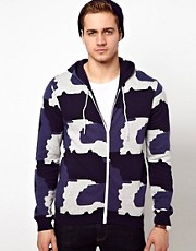 Sudadera con capucha y estampado de leopardo de ASOS
