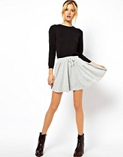 ASOS Skater Skirt with Drawstring Waist
