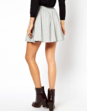 Image 2 ofASOS Skater Skirt with Drawstring Waist