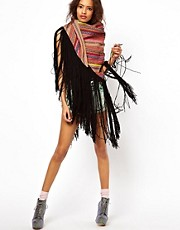 ASOS Premium Multi Stripe Tassel Scarf