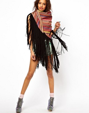 Image 1 ofASOS Premium Multi Stripe Tassel Scarf