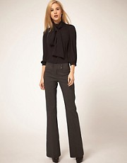 ASOS Kick Flare Trousers With Button Detail