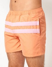 French Connection  Badeshorts mit pastellfarbenen Streifen