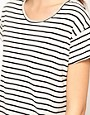 Image 3 ofLnA Striped T-Shirt With Mesh Back
