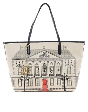 Image 1 ofLove Moschino House Canvas Shopper