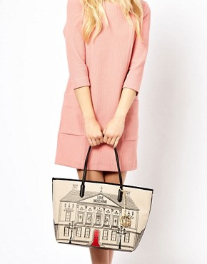 Image 3 ofLove Moschino House Canvas Shopper