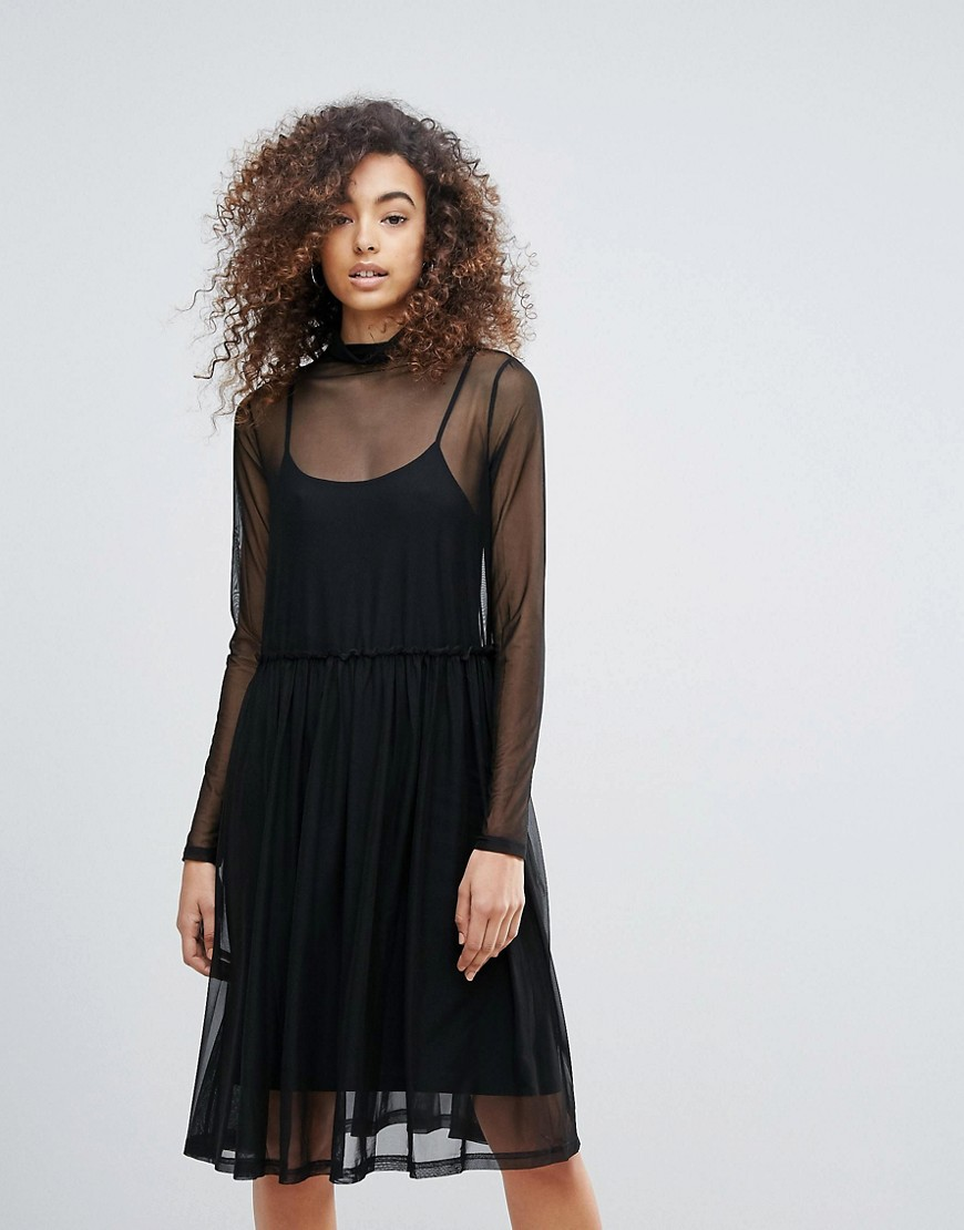 Gestuz Mesha Overlay High Neck Dress