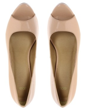 Image 3 ofASOS PASSION Platform Peep Toe Court Shoes