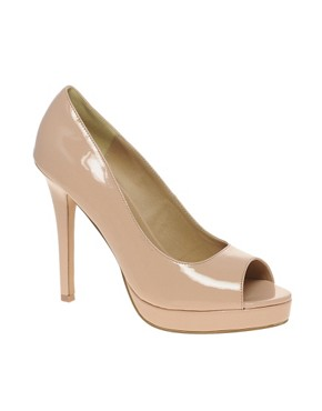 Image 1 ofASOS PASSION Platform Peep Toe Court Shoes