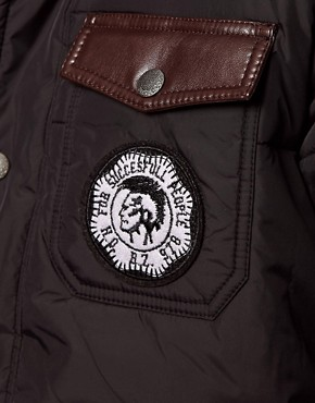 Image 3 ofDiesel Quilted Jacket Wisinplye