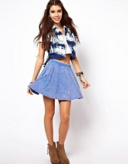 ASOS Skater Skirt in Acid Wash