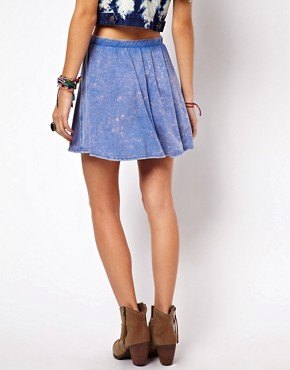 Image 2 of ASOS Skater Skirt in Acid Wash