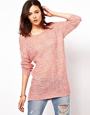 Vila Pretty Longline Sweater