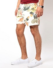 Lightning Bolt Printed Flower Pelican Shorts