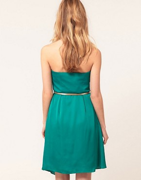 Image 2 ofCoast Bandeau Dress With Belt