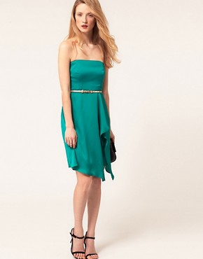 Image 4 ofCoast Bandeau Dress With Belt