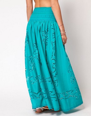 Image 2 ofASOS Maxi Skirt with Cutwork Detail