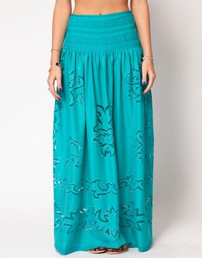 Image 4 ofASOS Maxi Skirt with Cutwork Detail