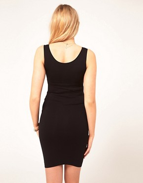 Image 2 ofASOS Maternity Exclusive Seamfree Vest Dress With Support For The Perfect Bump