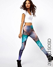 ASOS PETITE Exclusive Galaxy Shard Leggings