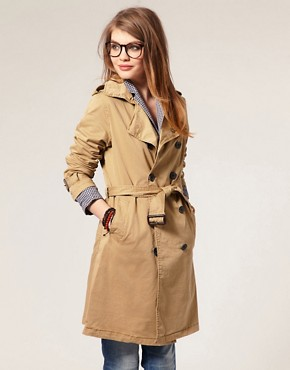 Image 1 ofMaison Scotch Belted Military Trench Coat