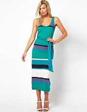 French Connection Stripe Tank Midi Dress