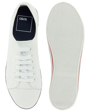Image 3 ofASOS Plimsolls With Toe Cap