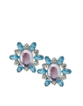 Image 1 ofASOS Stone Burst Stud Earring
