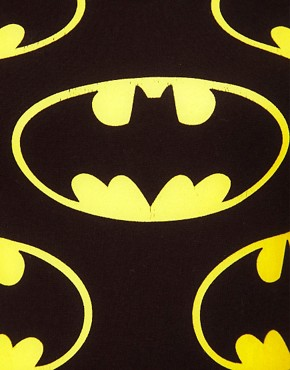 Image 3 ofLazy Oaf x Batman Exclusive Bodysuit In Bat Logo Print