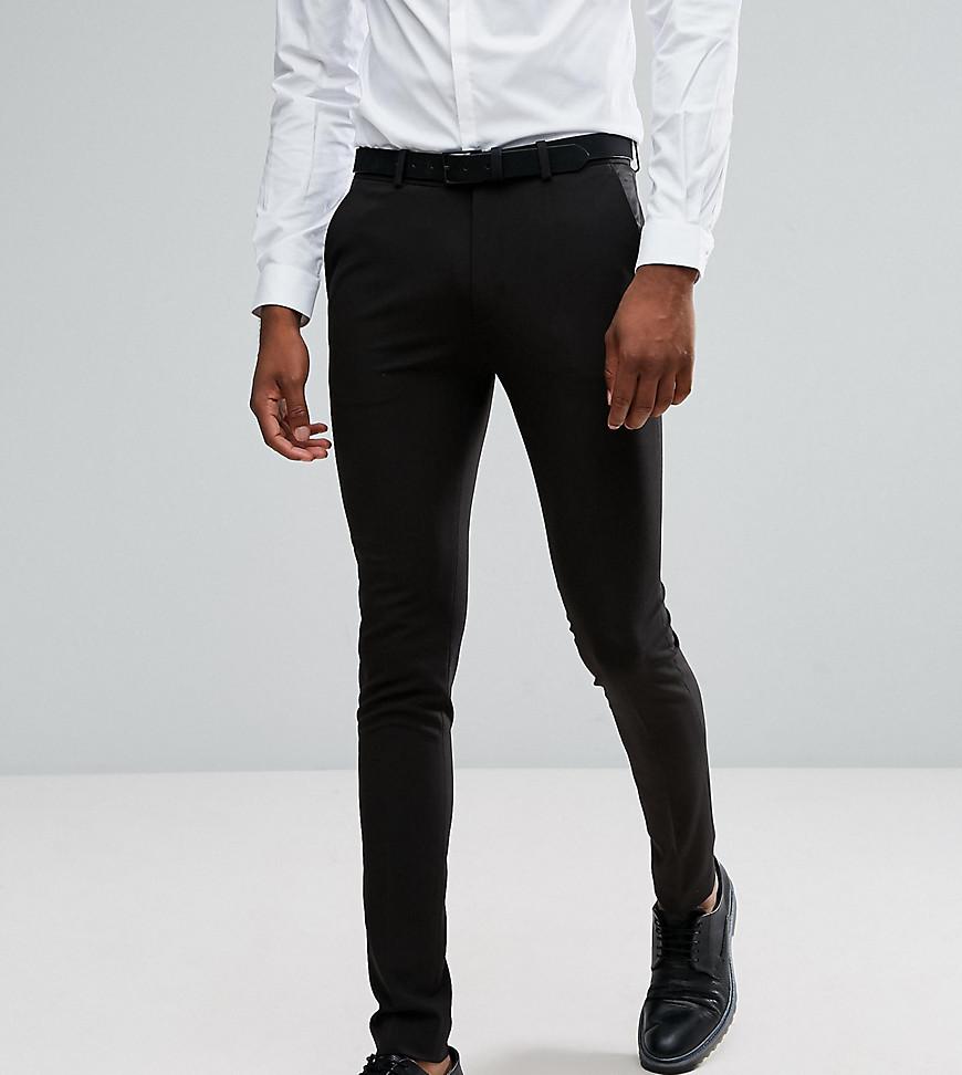 Черные брюки зауженного кроя ASOS TALL - Черный