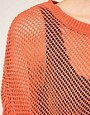 Image 3 of Vila Fishnet Knit Oversize Sweater