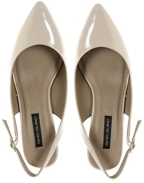 Image 3 ofRiver Island Teak Kitten Heel Slingback Shoe