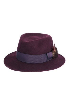 Image 2 ofCatarzi Exclusive To ASOS Feather Hat