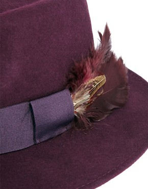 Image 3 ofCatarzi Exclusive To ASOS Feather Hat