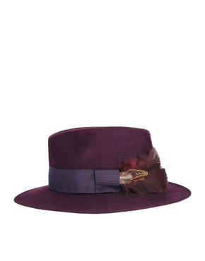 Image 4 ofCatarzi Exclusive To ASOS Feather Hat