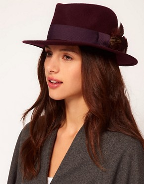 Image 1 ofCatarzi Exclusive To ASOS Feather Hat