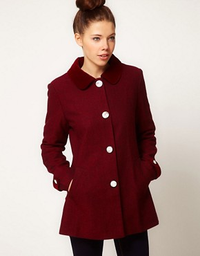 Image 1 ofA Wear Tweed Pea Coat