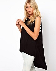 ASOS Top with Trapeze and Skeleton Back