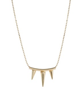 Image 1 ofASOS Three Spike Necklace