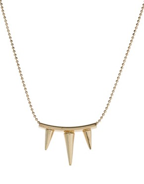 Image 4 ofASOS Three Spike Necklace