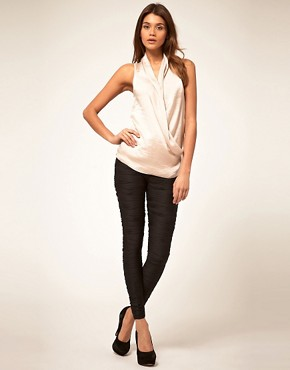 Image 1 ofASOS Premium Pleated Leggings