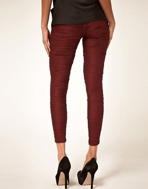 Image 2 ofASOS Premium Pleated Leggings