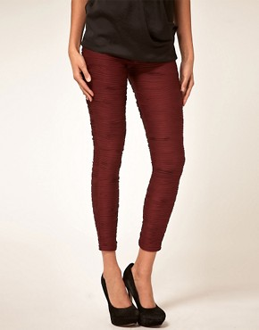 Image 4 ofASOS Premium Pleated Leggings