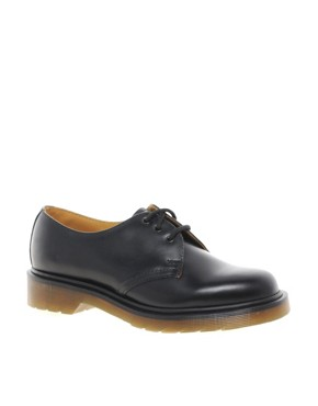 Image 1 ofDr Martens  1461 Classic Black Flat Shoes