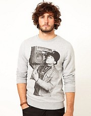 ASOS Sweatshirt With LL Cool J Print
