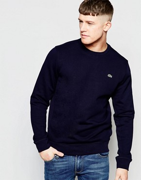 Lacoste Sweatshirt with Croc Logo in Navy