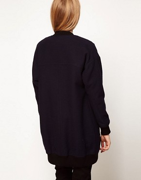 Image 2 ofASOS Longline Bomber With Pocket Detail