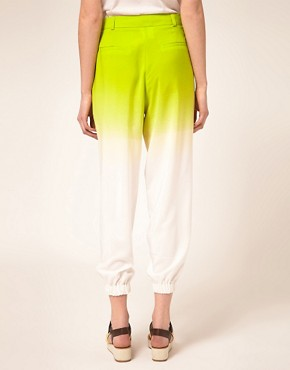 Image 2 of ASOS Ombre Pant With Elastic Cuff